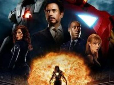Display iron man 2 poster