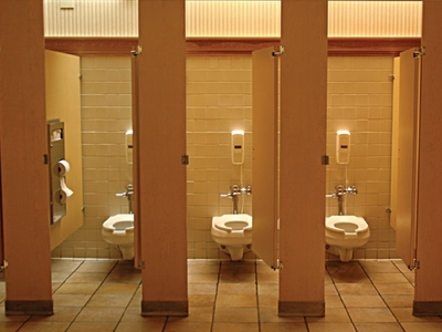 Display public restrooms