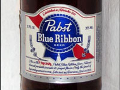 Display pabst blue ribbon 1989