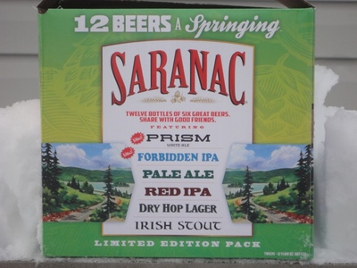 Display saranac 12 beers a springing