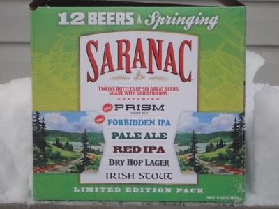 Display saranac 12 beers a springing
