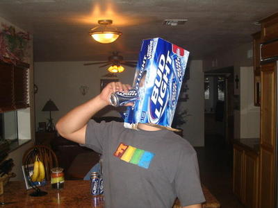 Display bud light head