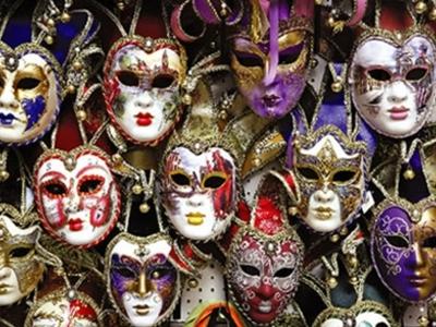 Display blog image venice carnival masks