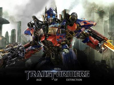 Display transformers 4 age of extinction optimus prime poster