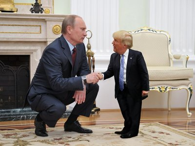 Display tiny trump putin