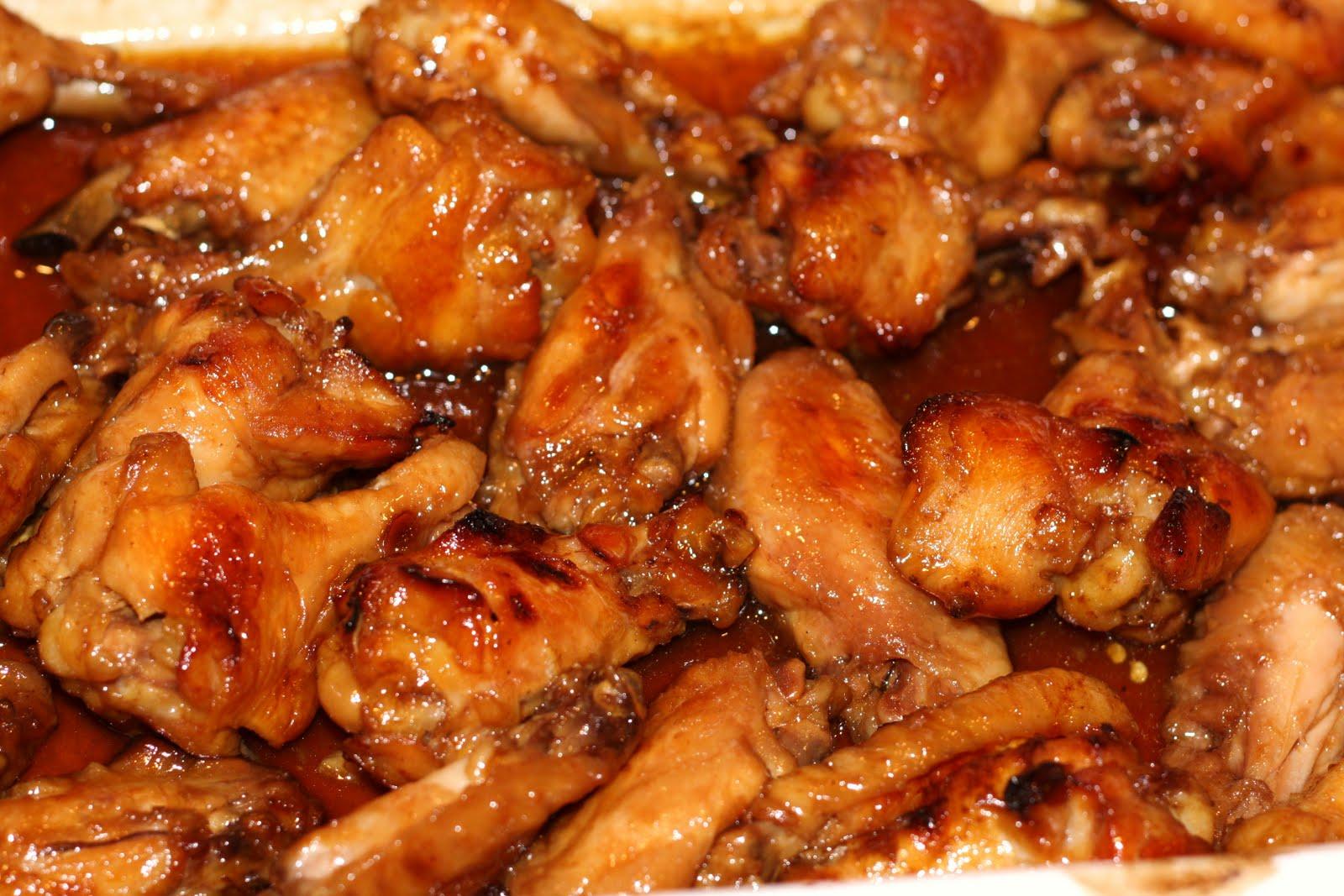 Sticky chicken wings hot